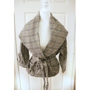 Marc Jacobs | plaid wool blend shawl jacket